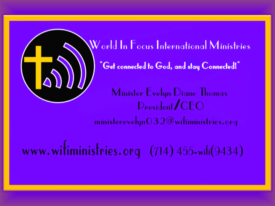 Purple and gold wifi business cards flyer   wifiministries.org ...