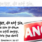 in your anger do not sin
